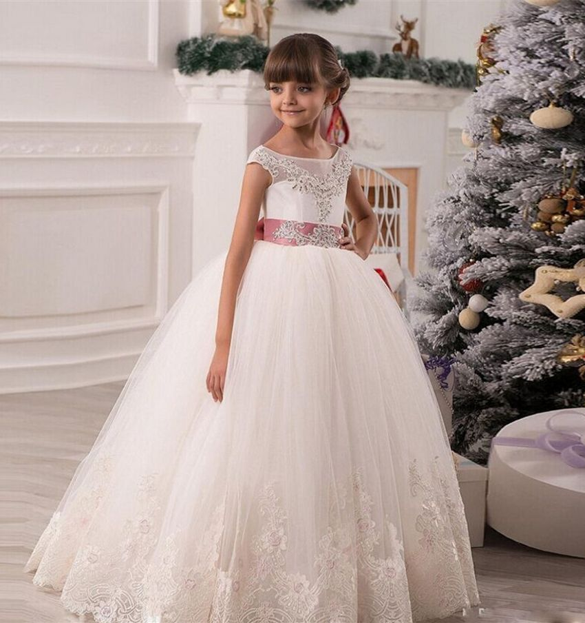 Click to Buy << White Ball Gowns Flowergirls Glitz Girls Pageant ...