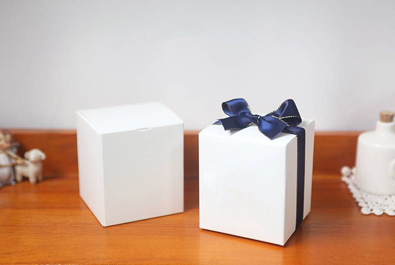 10 White Medium Rectangle Boxes Gift Box Candle Box Small White