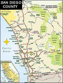 San Diego County Map San Diego County Pinterest San Diego Map