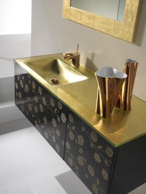 Dorado y Plata para el Cuarto de Baño   Decoracion cuartos ...
