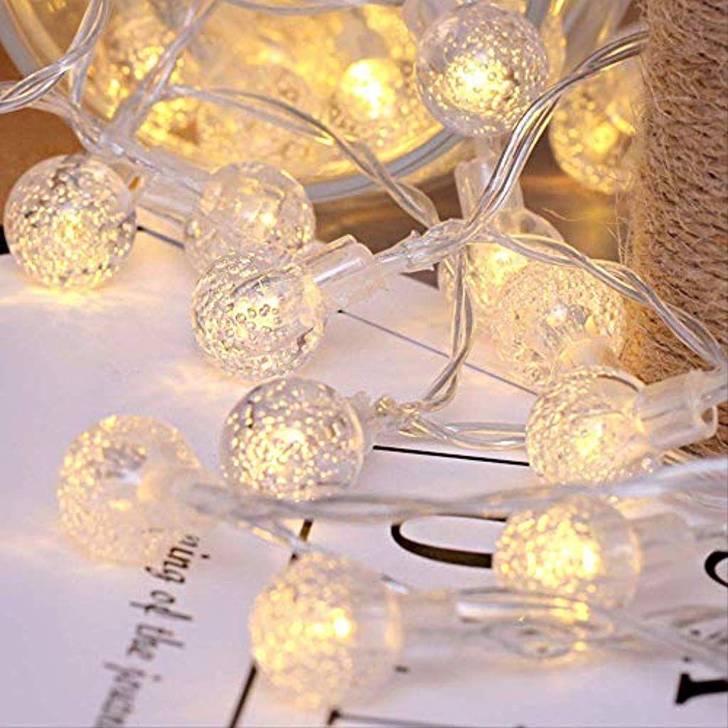Urlaub Zeichenfolgelaterne Romantische Madchen Transparente Kugel Lichterkette Led Kleine Blase Kugel Batterie Licht Atmosphare Dekora Lichterkette Lichter Led