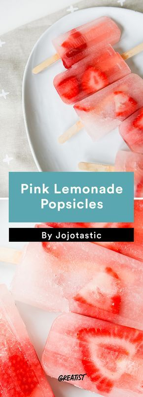 2. Pink Lemonade Popsicles #healthy #popsicle #recipes http://greatist.com/eat/popsicle-recipes-to-keep-you-cool-this-summer