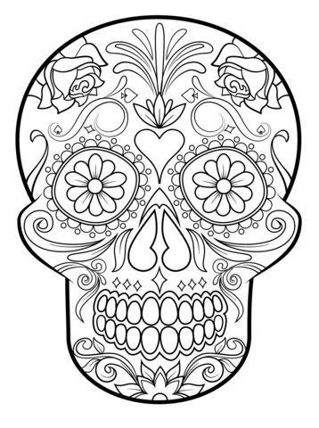 Sugar Skull Coloring Page From Sugar Skulls Category Select From