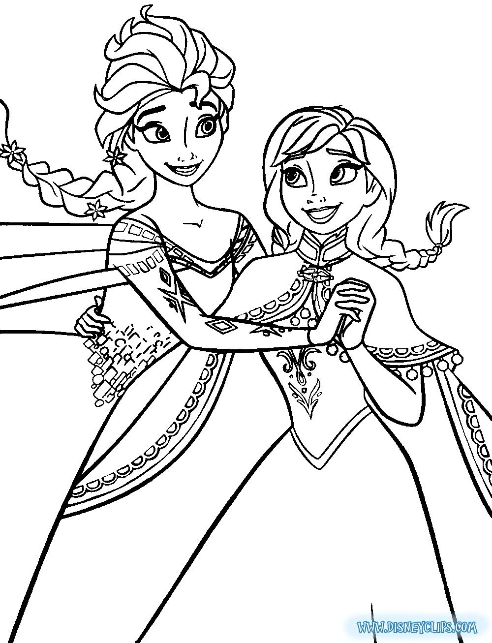 Disney Princess Coloring Pages Frozen Elsa And Anna Taken