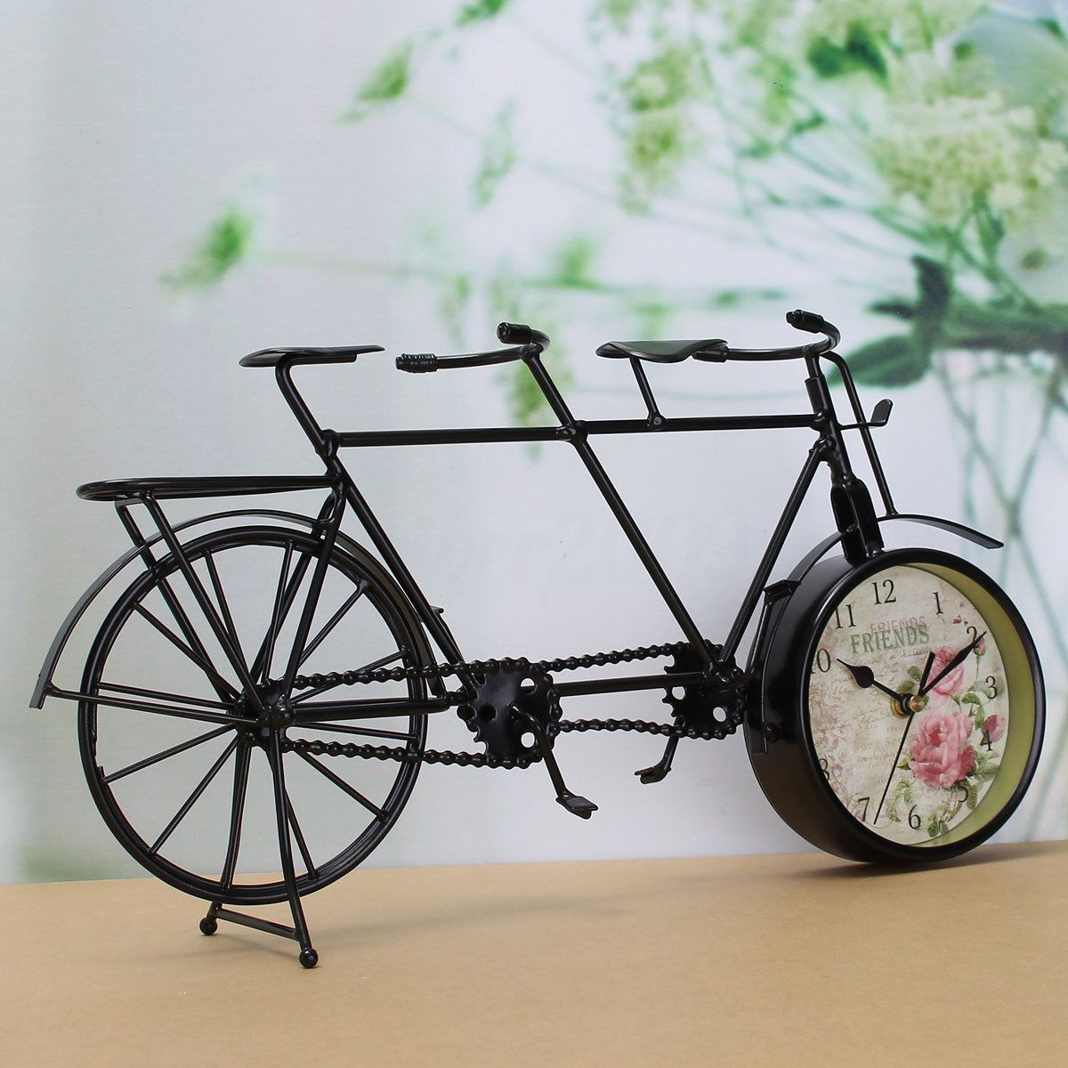 retro classic double bicycle clock table clock home decor diy gifts bike clock