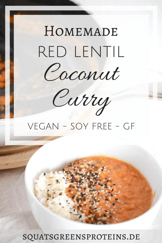 rezept homemade vegan coconut lentil curry lunch dinner. Black Bedroom Furniture Sets. Home Design Ideas