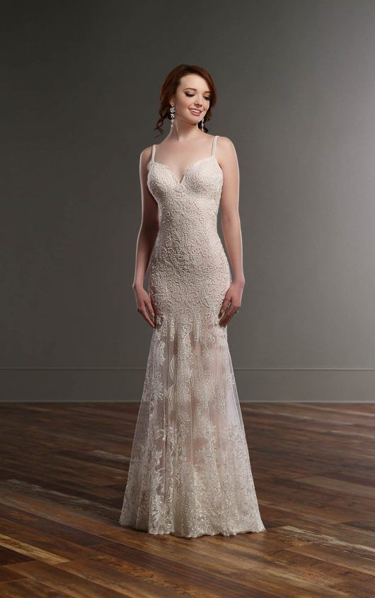 Beaded Sheath Wedding Dress Vintage