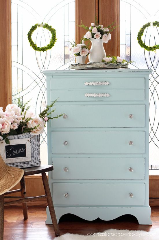 Cottage Inspired Dresser Redo Furniture Painted