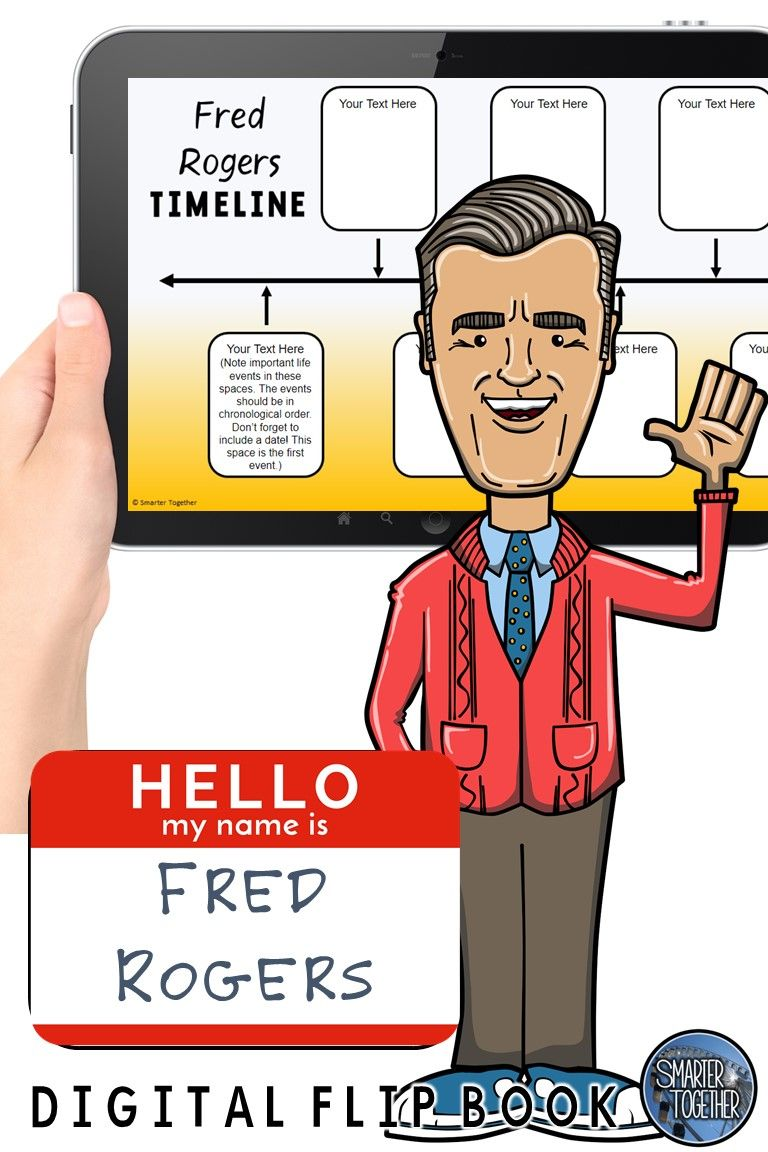 Fred Rogers Digital Biography Template Fred Rogers Digital Flip Book Rogers