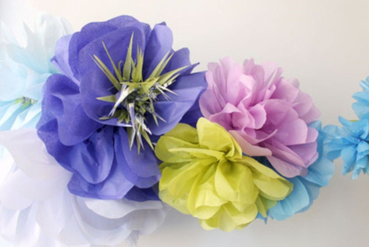 32 Simple And Easy Diy Tissue Paper Flower Garland Paper Flower