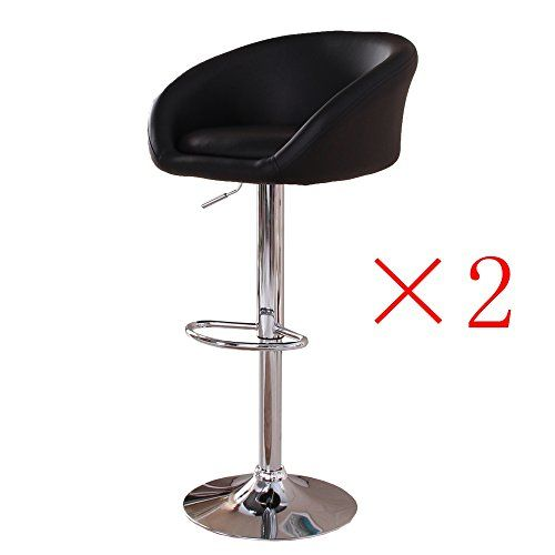 Ospi Swivel Chairs Adjustable Bar Stools Kitchen Stool Breakfast Bar Stools With Arms Set Of 2 Black Adjustable Bar Stools Kidsroom Decor Breakfast Bar Chairs
