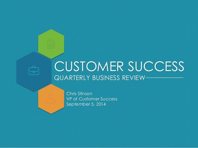 Quarterly Business Review Template Business Reviews Business