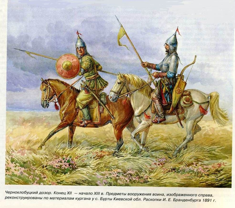 Cumans or Kumans known in Russian as Polovtsi.