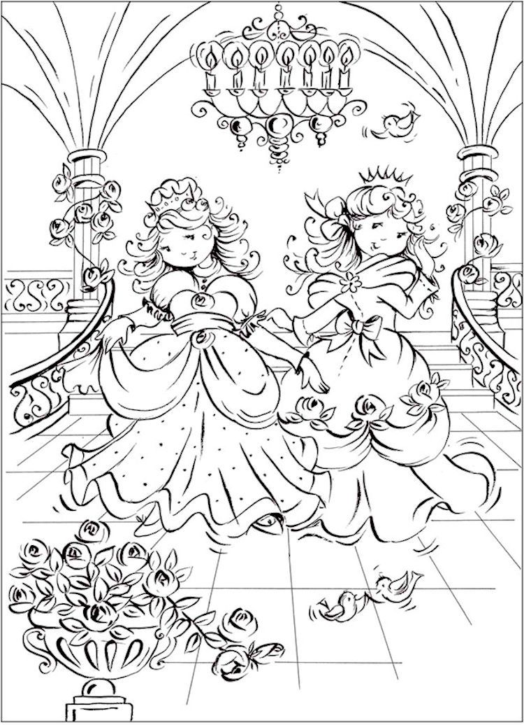 Dover Pretty Princess Coloring Page 4 | Kids / ALL Ages / Color ...