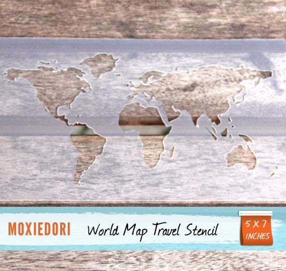 World Map Stencil  Bullet Point Journal Travel Stencil fits