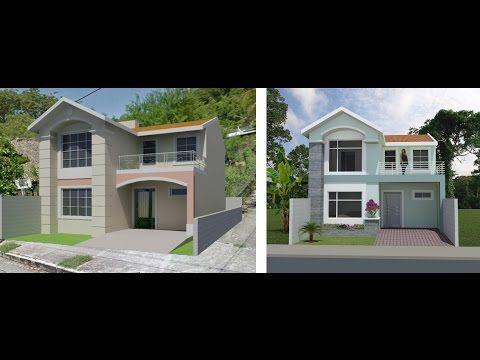 Casa ejemplo p terreno 8x20 m trazzos g for Casa moderna 8x20