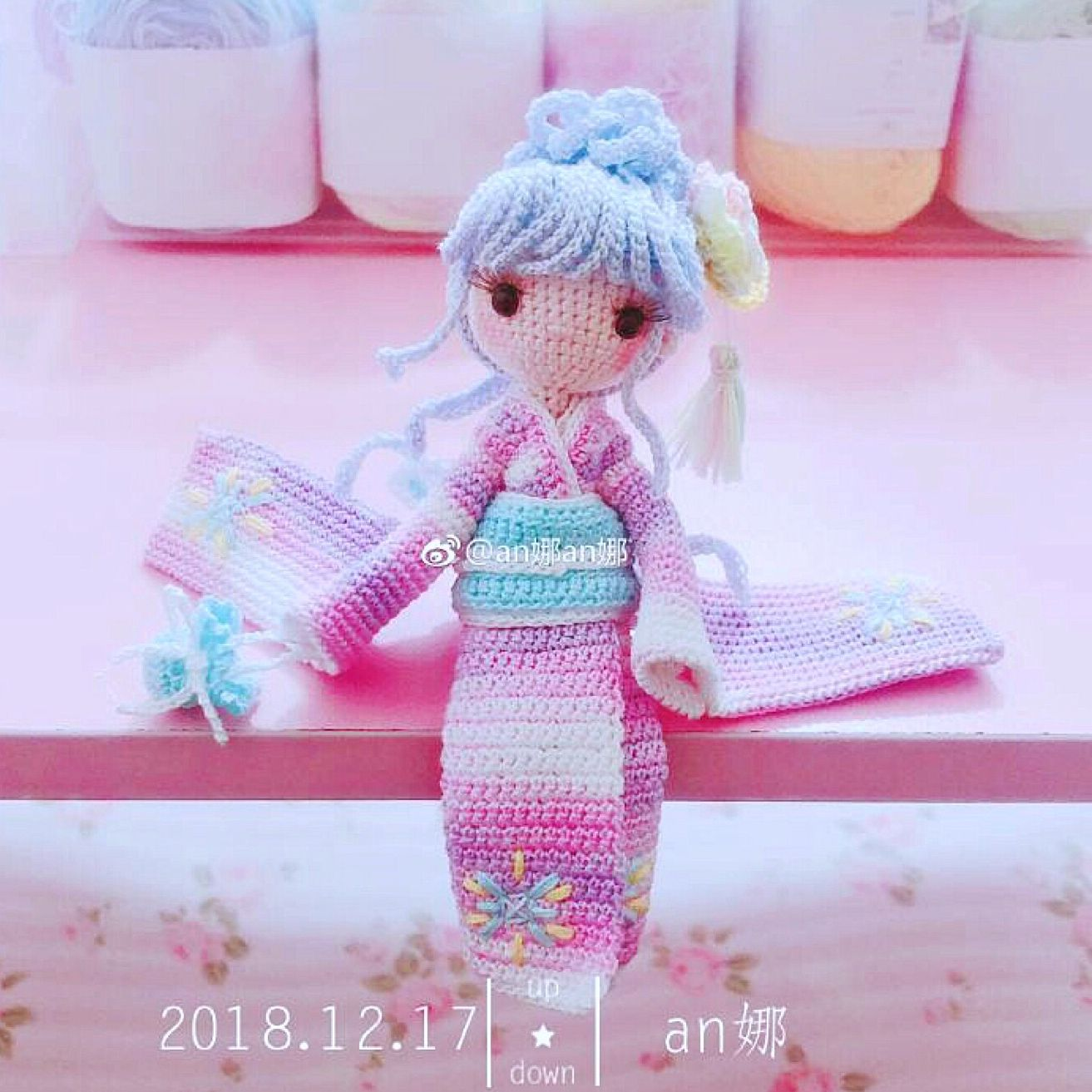 Kayla done by participant of my Weibo crochet activity, 醉梦櫻花 ... | 1313x1313