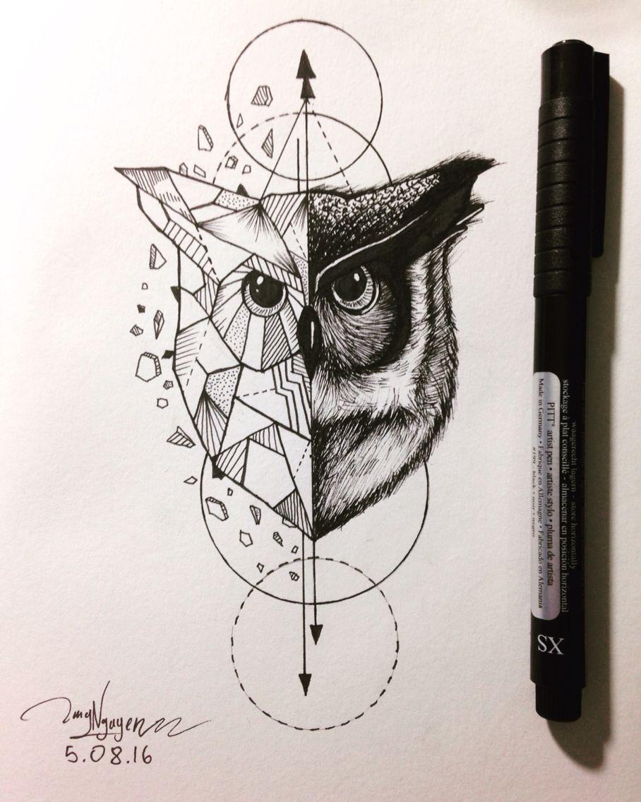 owl geometric animal Pinterest