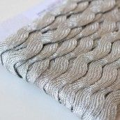 13mm Jumbo Metallic Silver Ric Rac Trim