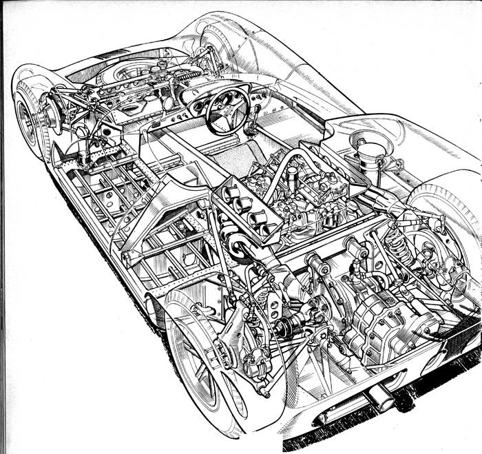 Lola T70 Chevrolet Cutaway
