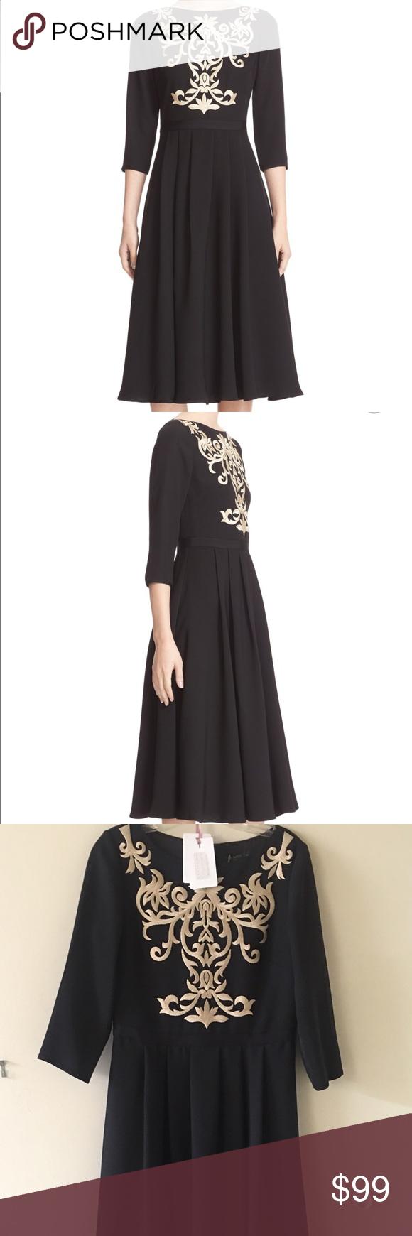 Ted Baker Black Shamari Embroidered Midi Dress Ted Baker Black ...
