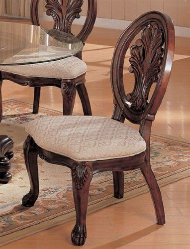 Set Of 2 Dining Side Chairs In Deep Rich Cherry Finish Http Www Furniturendecor Com Set Of 2 Din Traditional Dining Chairs Side Chairs Dining Dining Chairs