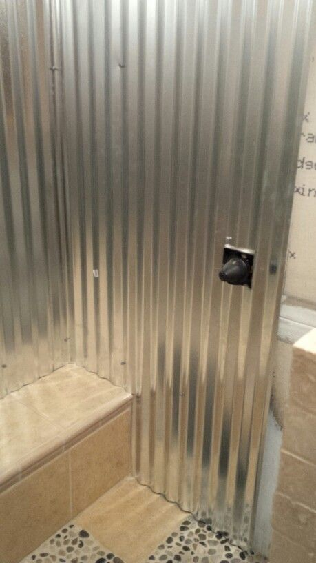 Tin Shower Walls Diy Walk In Shower Project In 2019