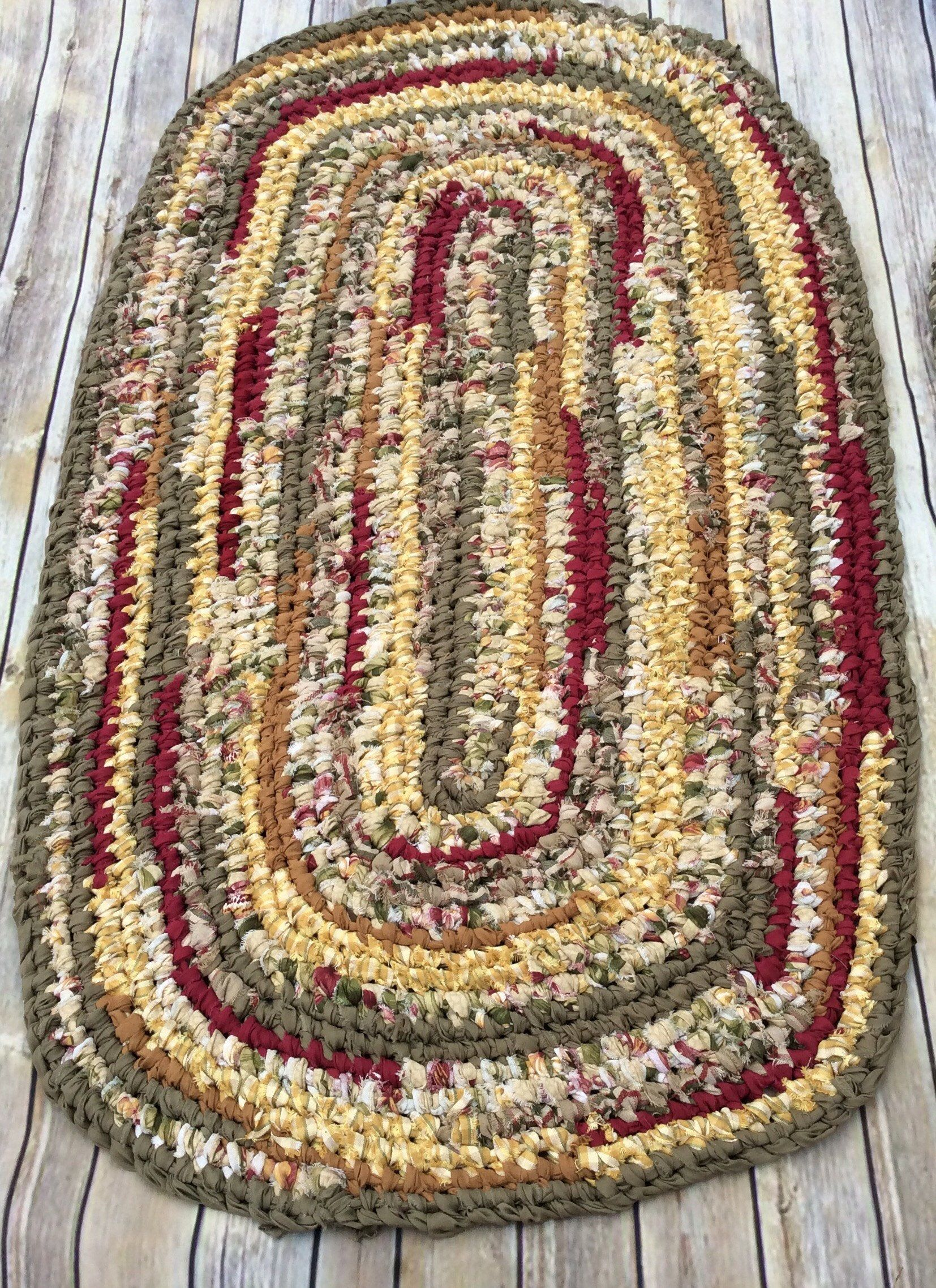 Rag Runner Rug Toothbrush Knotted