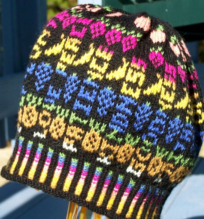 Free Knitting Pattern for Fruit of the Spirit Hat - Fair isle hat ...