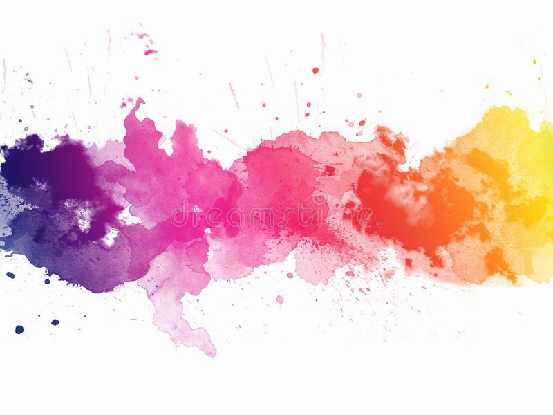 Watercolor Rainbow Border Stock Illustration Illustration Of Drop