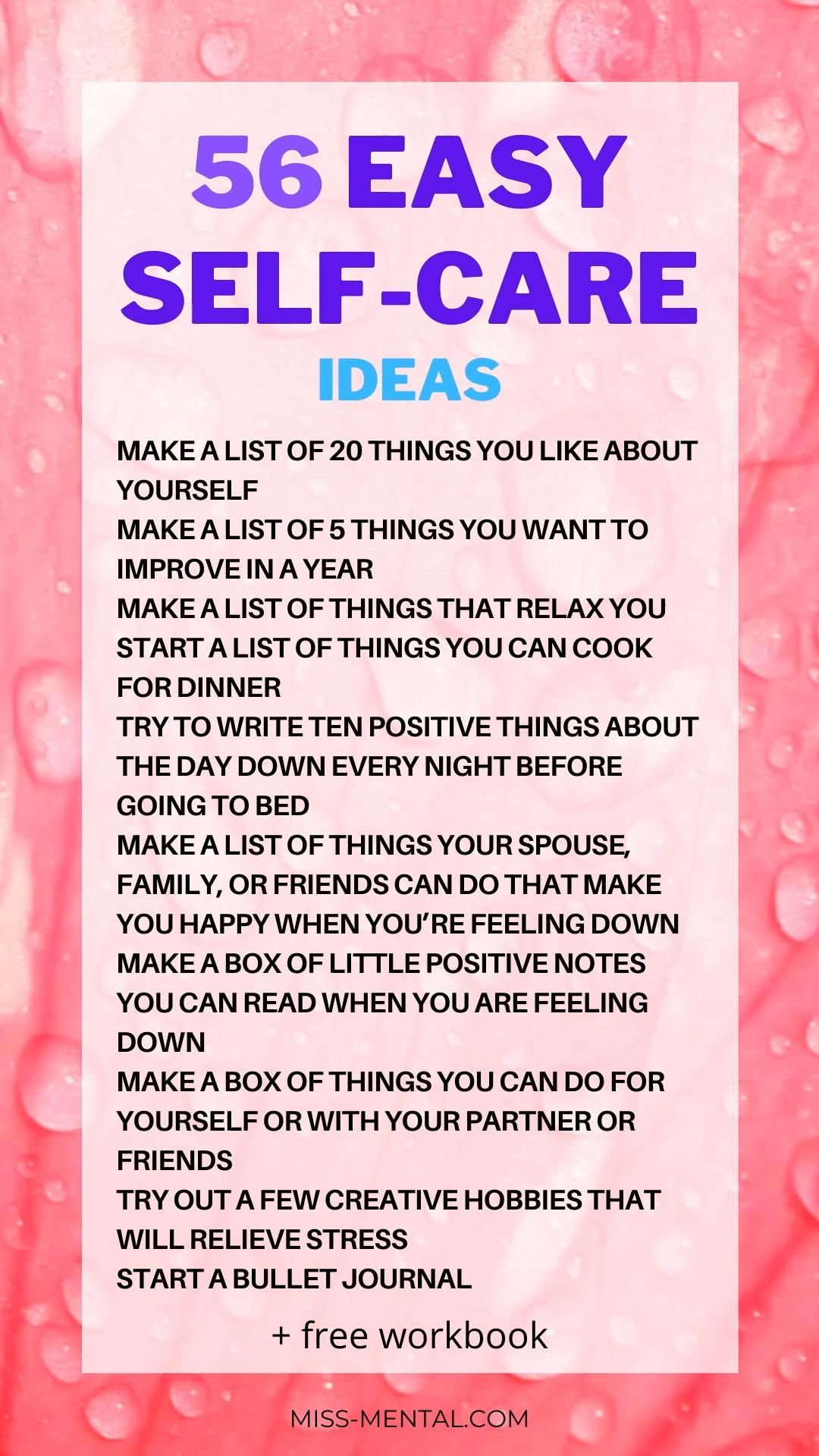 56 easy self-care ideas that will improve your life