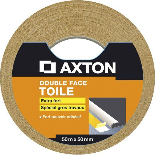 14 60 Double Face Toile Axton Special Gros Travaux 50 Mm X 50 M Adhesif Double Face Sol Pvc Rouleau Adhesif