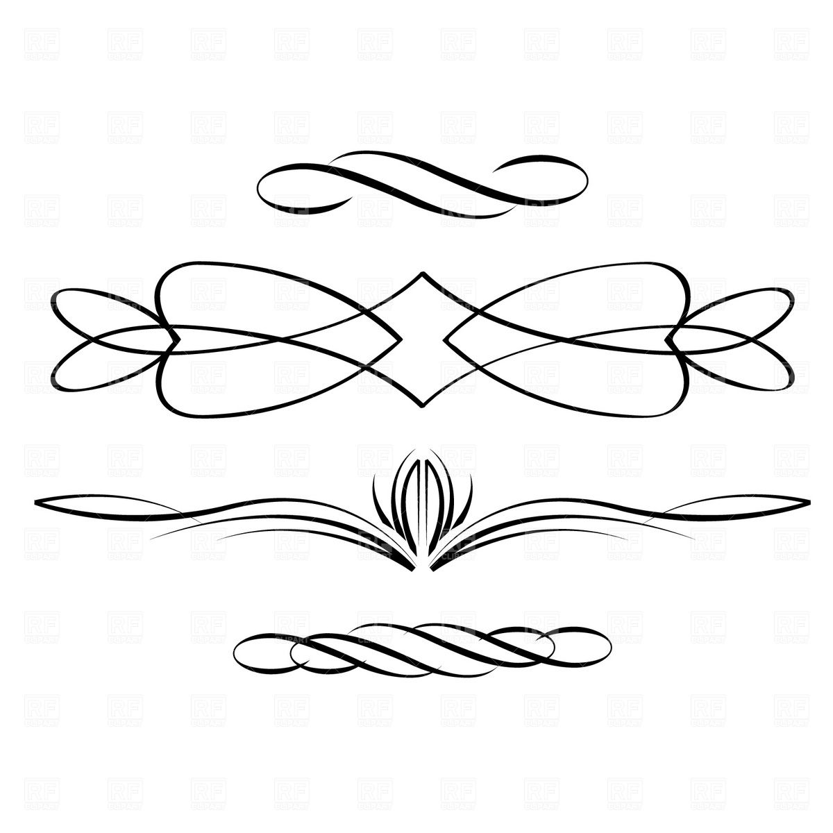 Line Art Design : Free scrolling designs scroll cliparts that
