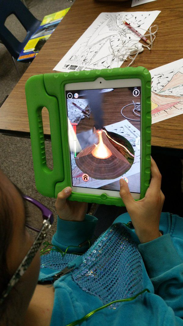 """Dawn Zamora on Twitter: """"Today Ss were reviewing for district Science test using AR centers one was @quivervision volcanoes #ar4Learning https://t.co/AaMWHylWi4"""""""