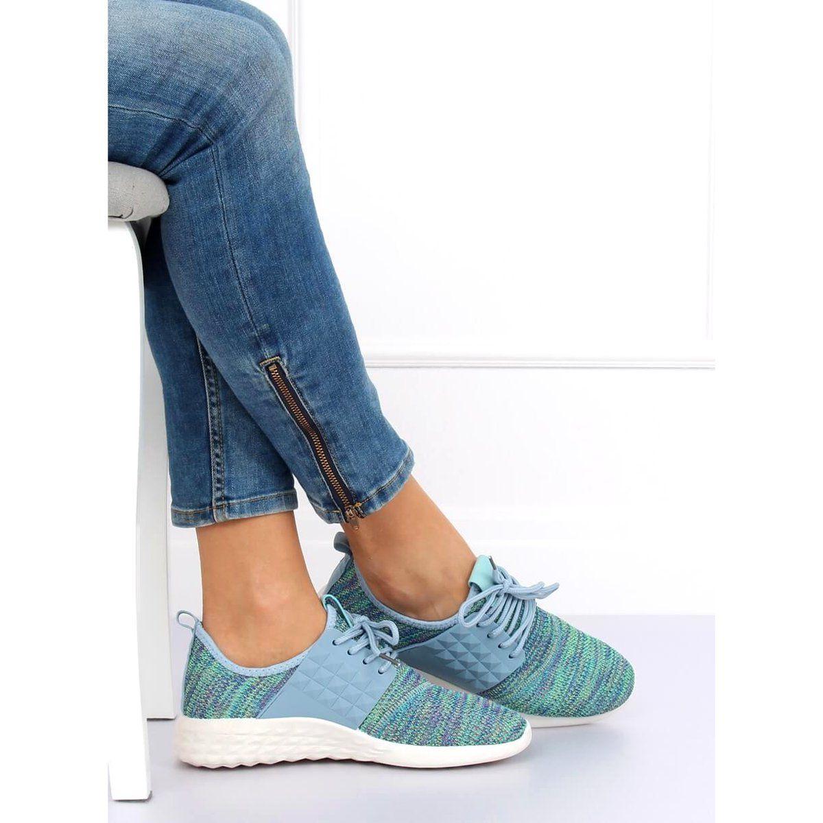 Buty Sportowe Turkusowe Hy2810 Turquoise Niebieskie Wedge Sneaker Shoes Sneakers