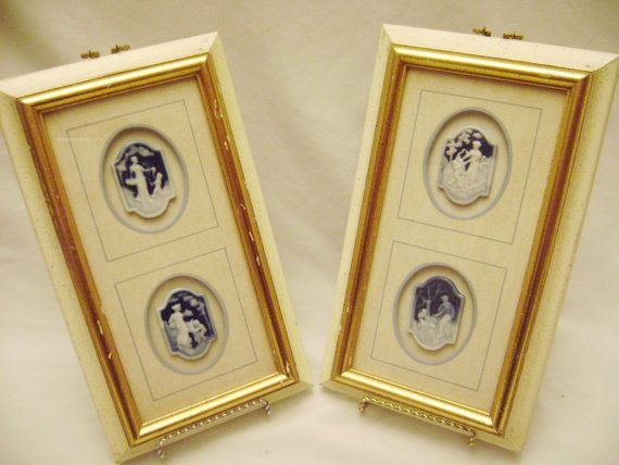 Rare Genuine Limoges Cameo Wall Hangings, Wall Art, L100 Made in ...