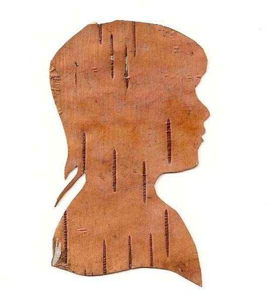 Silhouette from birch bark