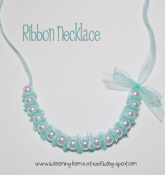Photo of Ribbon Pearl Necklace