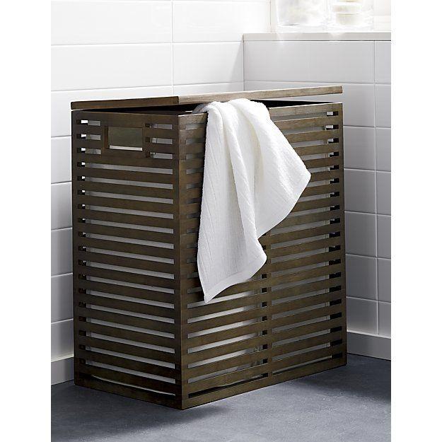 Dixon Bamboo Hampers With Liner Crate And Barrel Natural Bathroom Accessories Bathroom Hampers Bathroom Decor