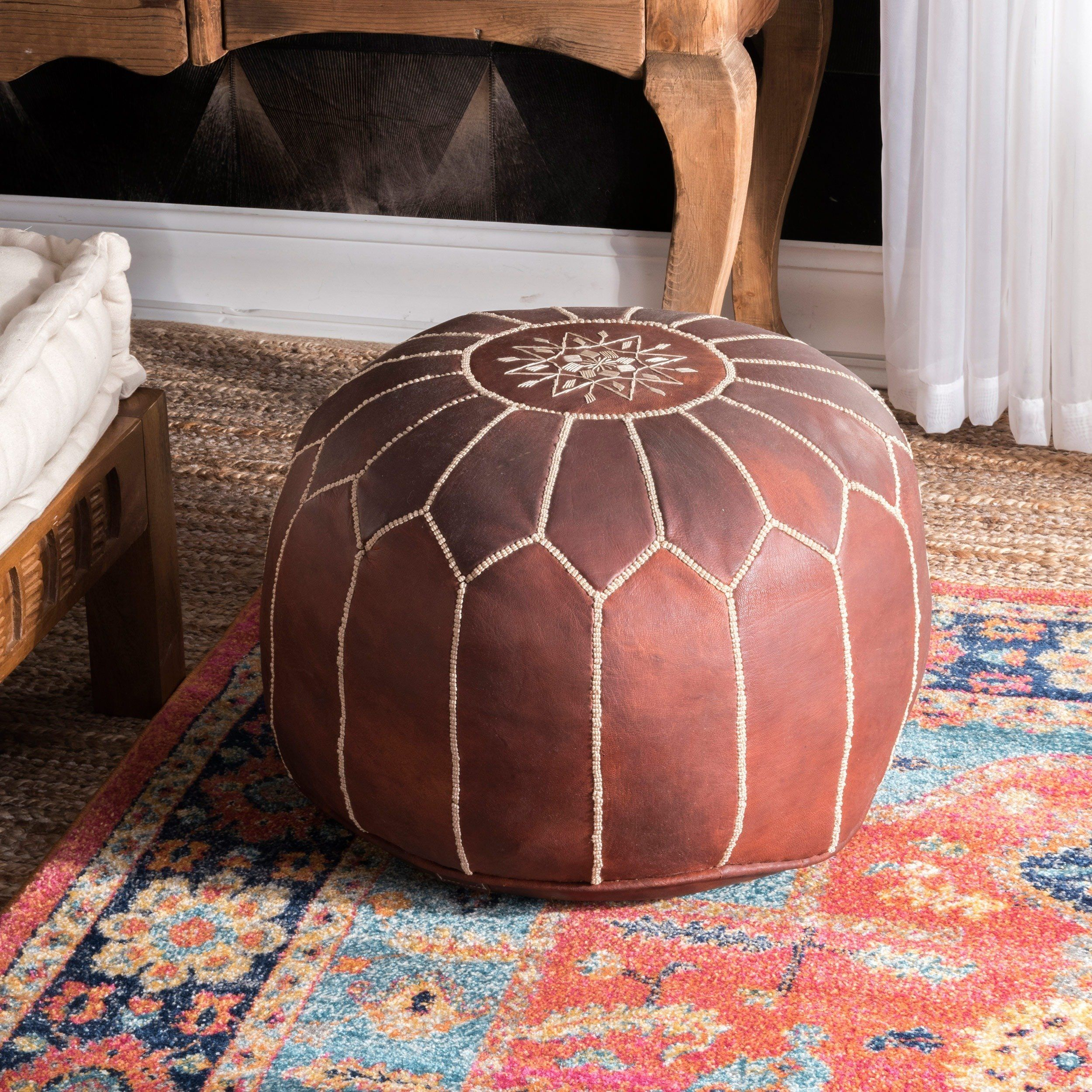 Overstock Com Online Shopping Bedding Furniture Electronics Jewelry Clothing More Moroccan Leather Pouf Leather Ottoman Leather Pouf