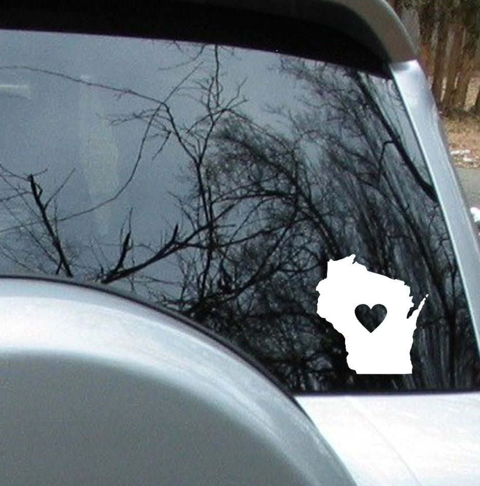 Love Wisconsin State Sticker Car Decal 4 99 Via Etsy Car Decals Car Stickers Decals [ 949 x 936 Pixel ]