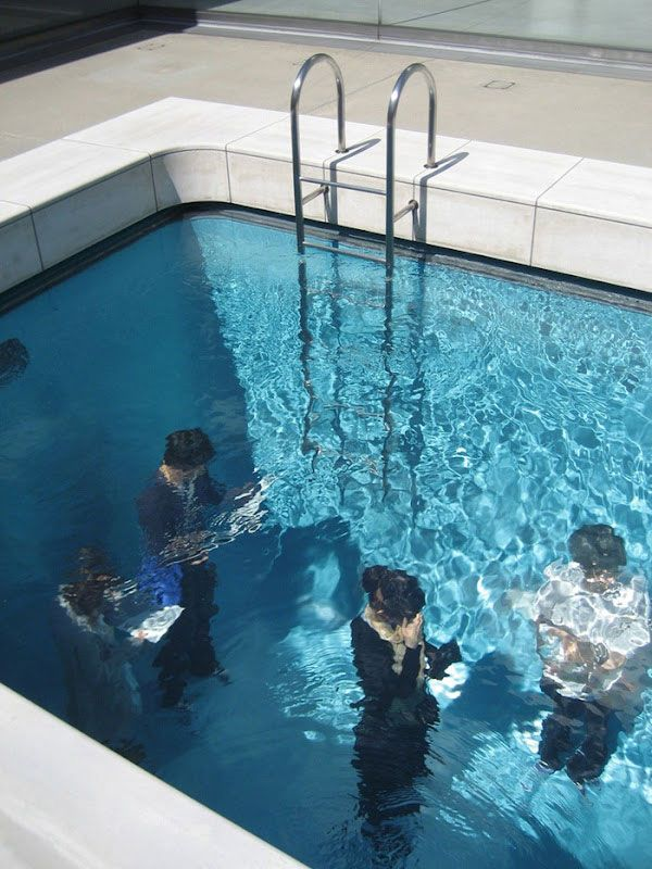Swimming Pool by Leandro Erlich is an art installation with a permanent home at the 21st Century Museum of Art of Kanzawa, Japan. It has also had temporary installations at MoMAPS1 and the Venice Biennale.