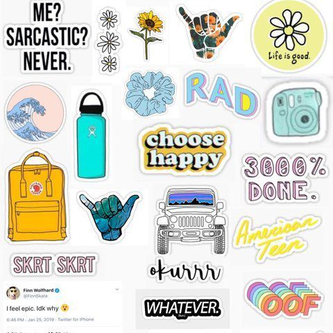 How To Be A Vsco Girl Stickers Pegatinas Imprimibles