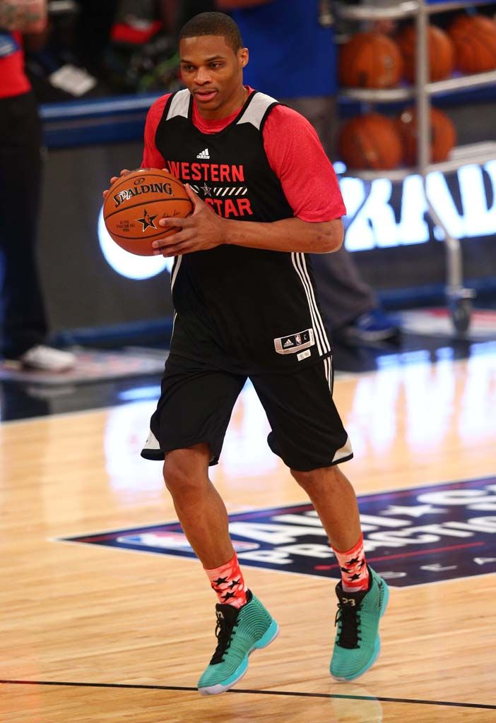 huge selection of 853ab 04e60 Russell Westbrook wearing Air Jordan XX9 29 All Star Practice (1)