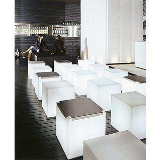 Deko Leuchtwürfel mit Sitzauflage 43 cm & Dekoration bei DekoWoerner