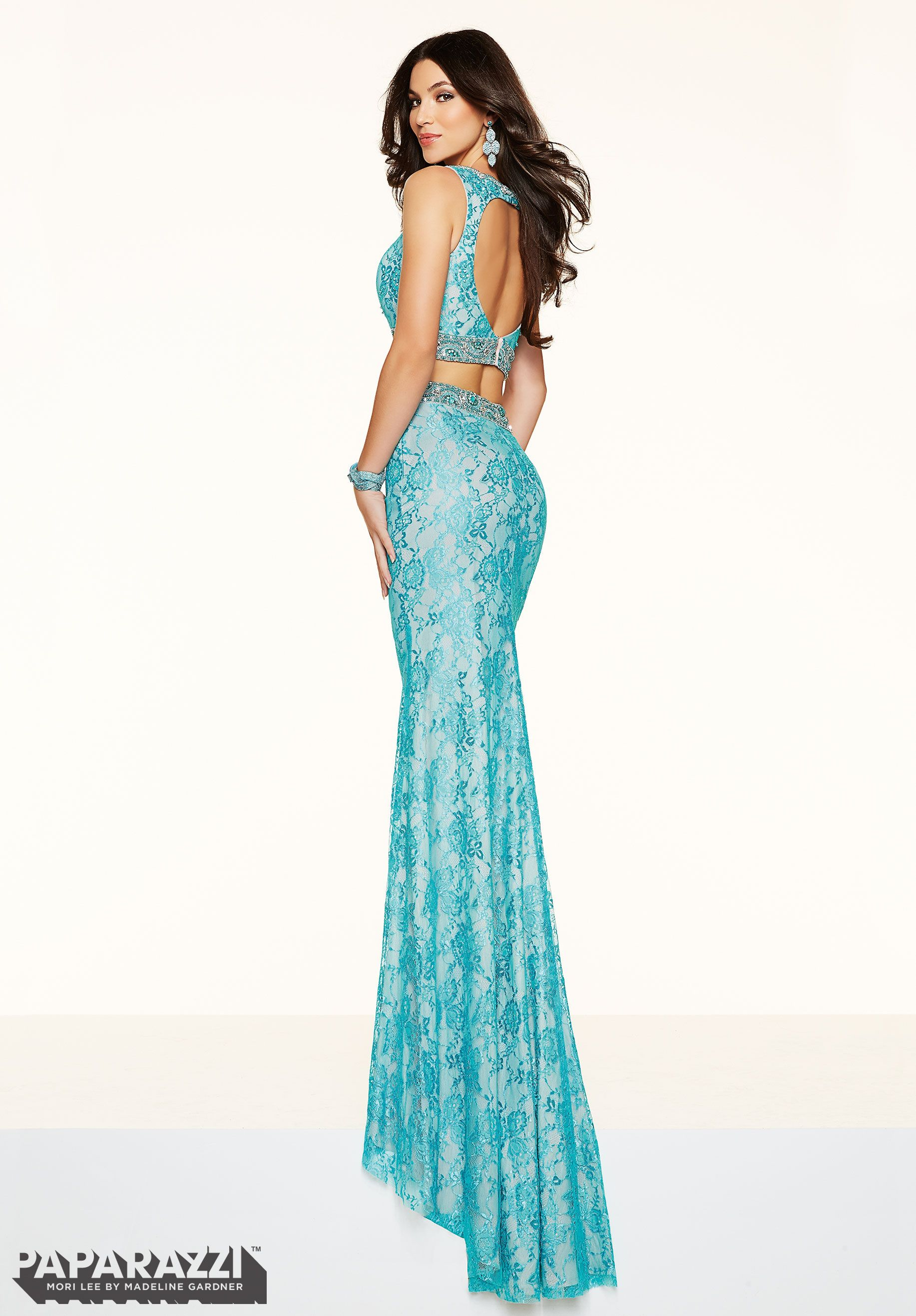 Vestido Prom YLZNZ 2 PIECE ALL OVER LACE WITH BEADING Zipper Back ...