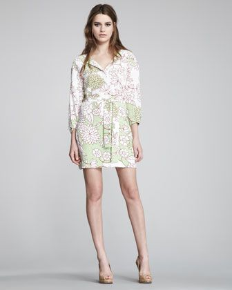 Julieta Printed Shirtdress by Diane von Furstenberg at Bergdorf Goodman.