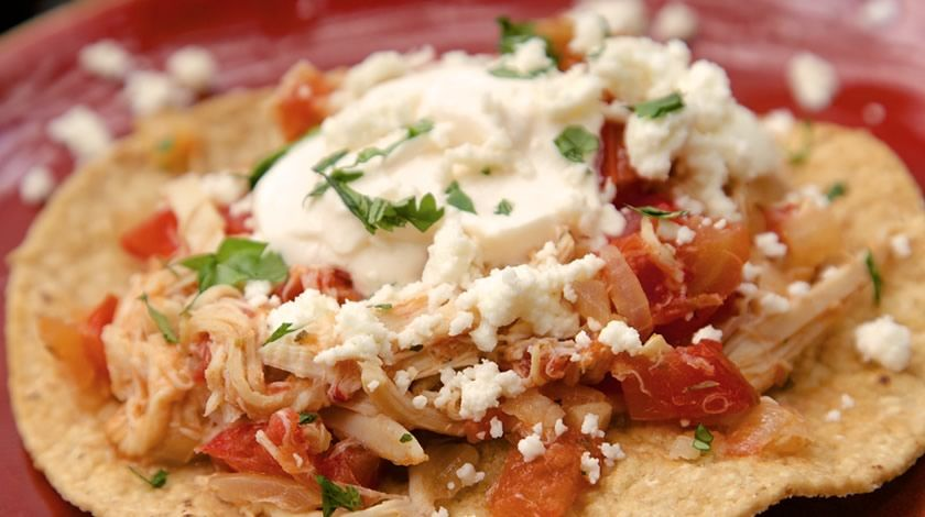 Tinga de Pollo Tostadas | Recipes | TABASCO.COM