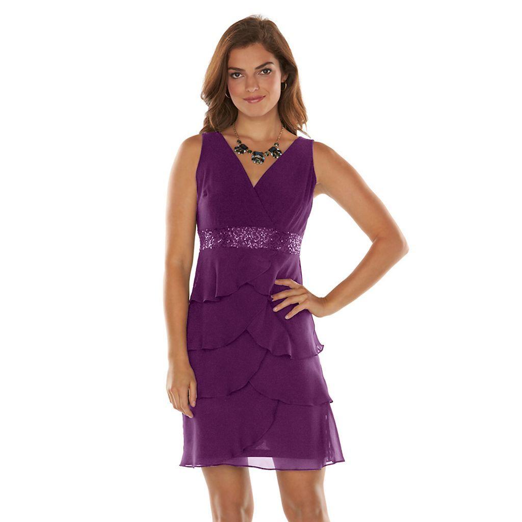 c8779807275 Purple Sparkly Cocktail Dress