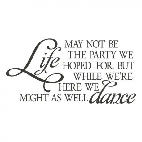 Life may not be the party we hoped for